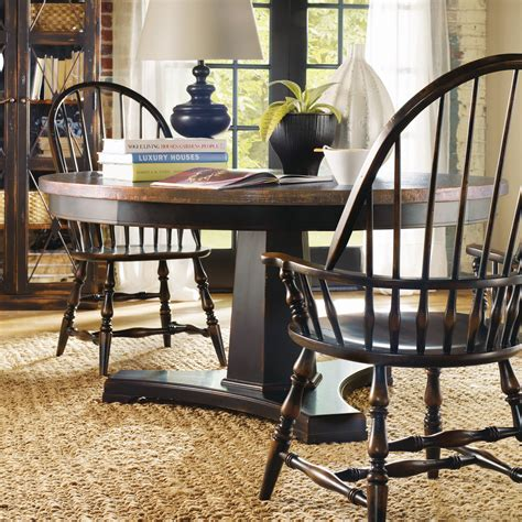 windsor dining room set hooker furniture sanctuary 5 piece ebony copper 60 in