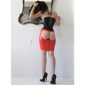 latex skirt polyvore