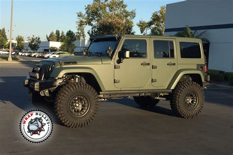 matte dark green jeep matte army green jeep wrap wrap bullys
