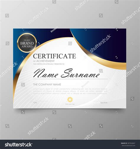layout design awards certificate premium template awards diploma background
