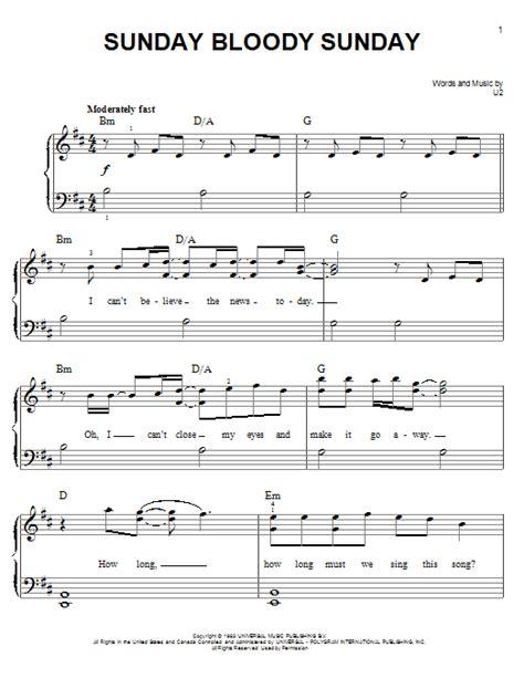 my bloody chords sunday bloody sunday sheet direct