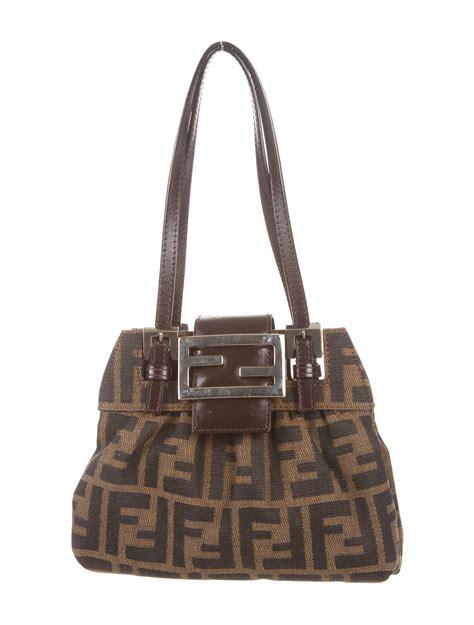 Fendi Bags by Fendi Zucca Handle Bag Handbags Fen36013 The Realreal