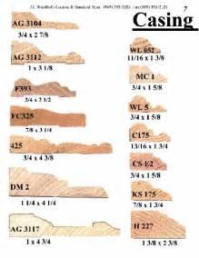 wood trim profiles casing catalog page 7 j j wohlfert s custom wood