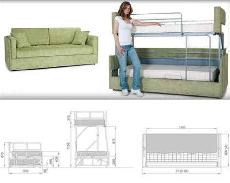 Sofa Converts To Bunk Bed Space Saving Sleepers Sofas Convert To Bunk Beds In Seconds Urbanist