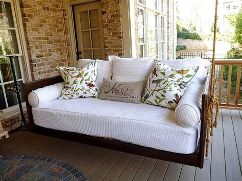 Porch bed home hanging porch beds amp swinging porch beds