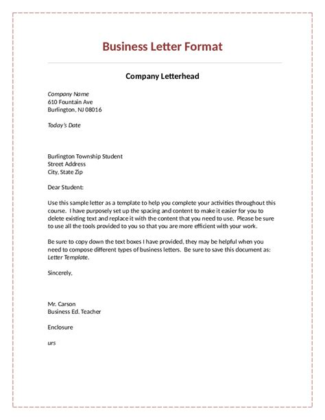 Official Letter Content official letter format cover letter exle