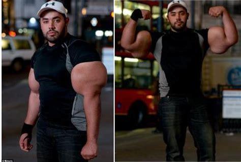 Suplemen Pembesar Otot Pria Dengan Otot Bisep Sebesar Pinggang Orang Dewasa