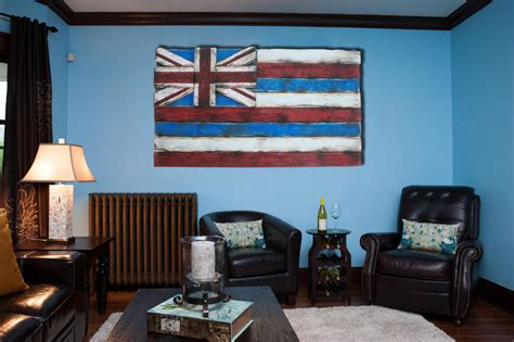 One Of A Kind Home Decor by Weathered Wood One Of A Kind 3d Hawaii State Flag Wooden