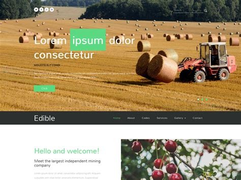 free bootstrap templates for agriculture edible free bootstrap template for agriculture business