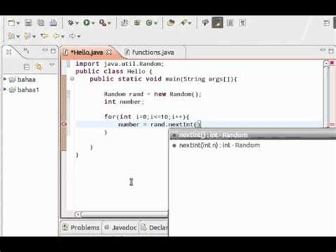 java tutorial random java tutorial 20 random number generator تعلم
