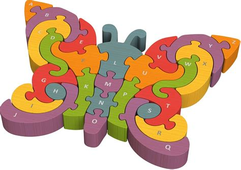 Puzzle Alphabet Butterfly butterfly a to z alphabet chunky wooden puzzle