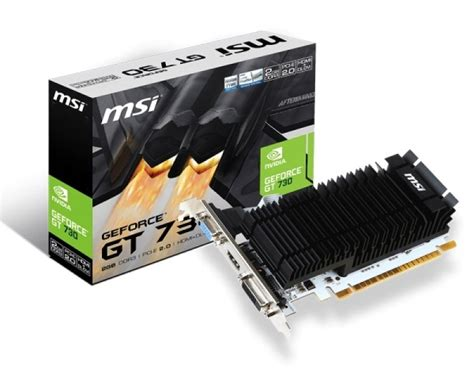 Murah Vga Card Asus Gt 730 2gb Ddr3 128bit msi geforce gt 730 2gb ddr3 vga dual link dvi d hdmi pci e