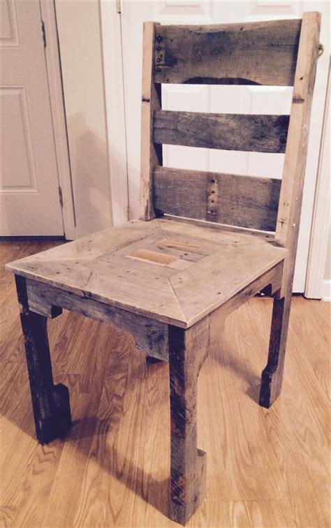 Diy Dining Chair Diy Pallet Dining Chair Pallet Furniture Plans