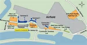San Diego Airport Map by Airport Parking Map San Diego Airport Parking Map Jpg
