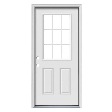 Shop Reliabilt Simulated Divided Light Right Hand Inswing Exterior Steel Doors
