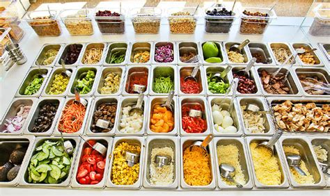 salad bar toppings list chopped the ultimate salad chains showdown huffpost