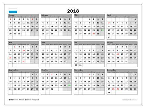 Kalender 2018 Bayern Drucken Kalender Zum Ausdrucken 2018 Feiertage In Bayern