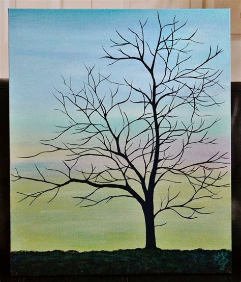 acrylic paint trees inner peace 20 x 24 acrylic canvas painting tree by
