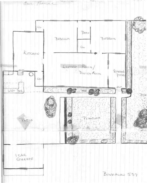 two bedroom bungalow floor plans 2 bedroom house plan