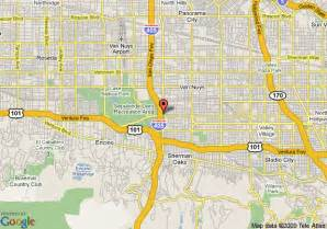 nuys california map map of hton inn suites los angeles nuys nuys