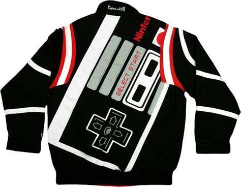 Jaket Gamers geeky gaming bomber jackets nintendo controller jacket