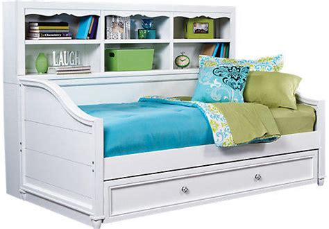 rooms to go day beds gabriella winter white 3 pc bookcase from rooms to go