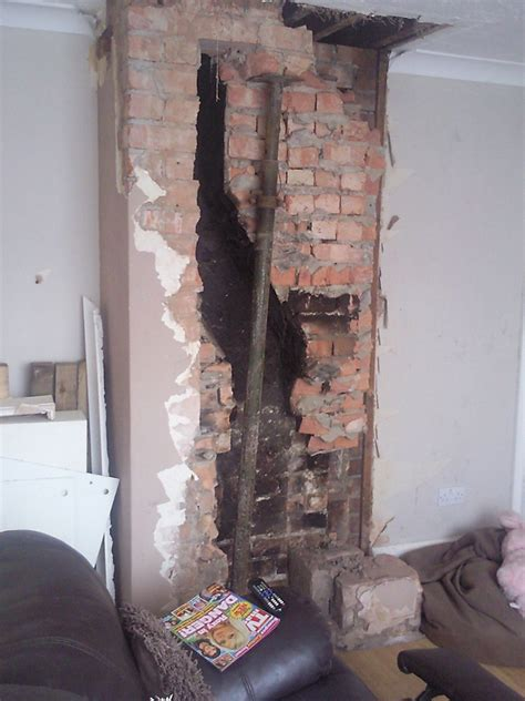Fireplace Removal by Removal Of Remaining Chimney Breast Chimneys