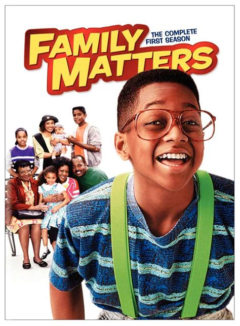 steve and tv shows family matters the complete season on dvd the