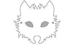 printable wolf mask template stockholm fringe festival running with wolves pack of