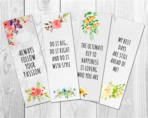 printable bookmarks with quotes pdf motivational bookmarks template quote bookmarks printable