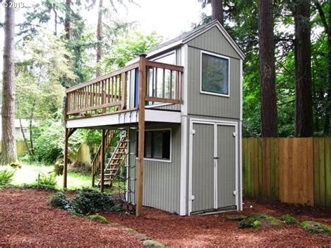 Shed With Deck by Cool Shed With Play Room And Deck Up Top Outdoor Living