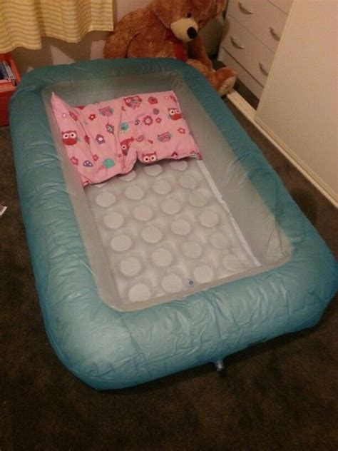 blow up toddler bed cheap travel bed for toddler high sides inflatable floor