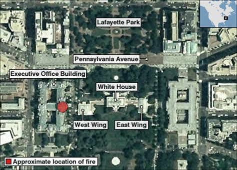 where is the white house located bbc news americas flames at us government building