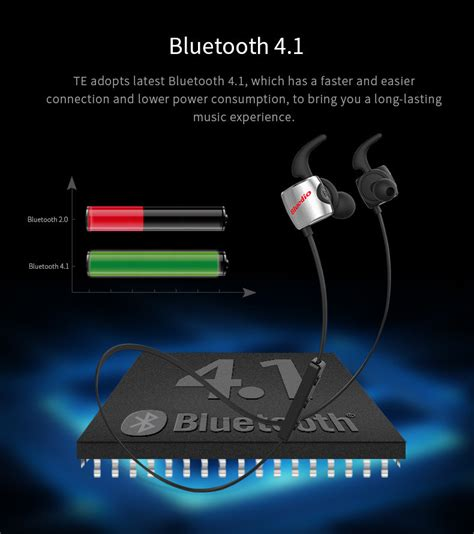 Bluedio Te Bluetooth Sport Earphone bluedio te wireless bluetooth sport headphones with mic black