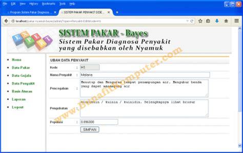 desain database sistem pakar sistem pakar bunafit komputer