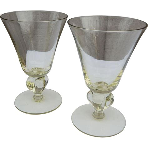 stemless martini distinctive pair of crystal martini stemless vintage