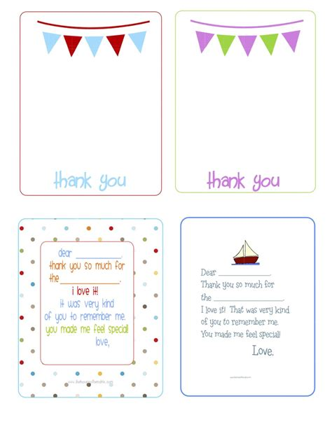 printable thank you cards for birthday 5 best images of birthday thank you cards printable free