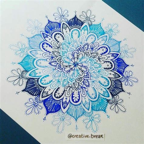 mandala hipster blue image 4263066 by