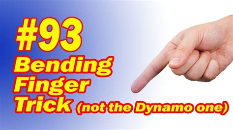 how to your to do tricks bending finger trick not dynamo easy to do illusion