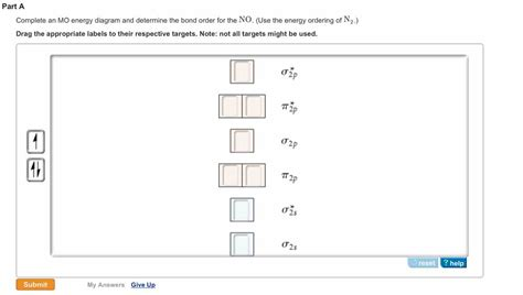 energy pattern of n2 ion solved complete an mo energy diagram and determine the bo