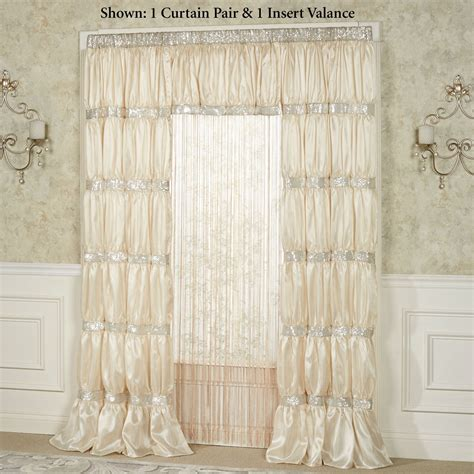 Silk Window Treatments Radiance Shirred Faux Silk Window Treatment