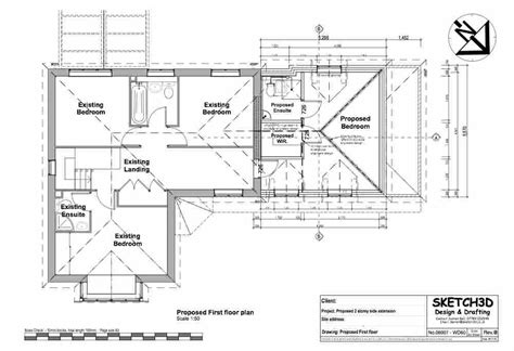 second floor extension plans exle house extension plans design 2