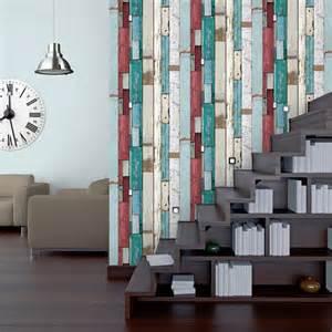 papier peint intiss 233 planches multicouleur leroy merlin