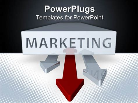 powerpoint templates marketing powerpoint template marketing word printed on a white