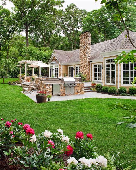 spanish style backyard spanish influenced backyard patio beechwood landscape