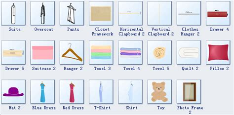 Easy Floor Plan wardrobe plan symbols
