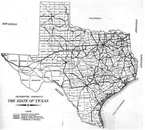 texas road construction map texas highway department thc texas gov texas historical commission