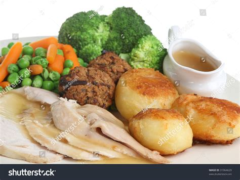 individual gravy boat roast chicken dinner with stuffing and individual gravy