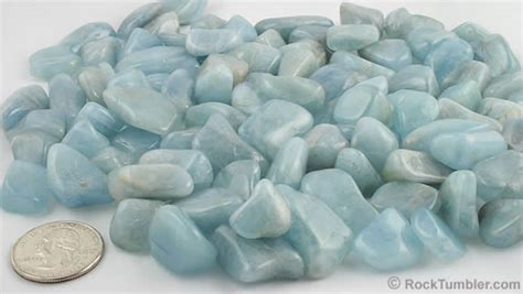 Rok Soft Blue tumbled stones 60 different polished varieties