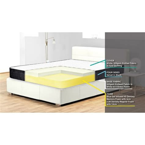 royal comfort memory foam mattress royal comfort osteo choice gel lot 713520 allbids